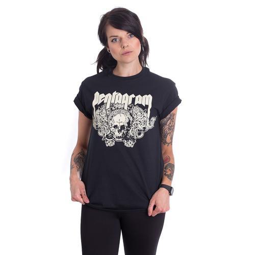 Pentagram - Skull - - T-Shirts