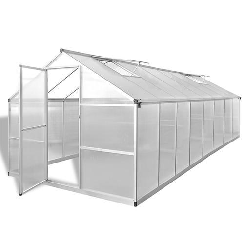 vidaXL Gewächshaus Aluminium 481 x 250 x 195 cm 23,44 m³