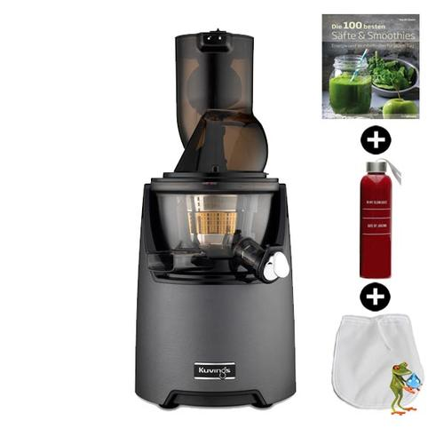 Kuvings EVO820 Kuvings Evolution Cold Press Juicer | Entsafter - Saftpresse - Slow Juicer | + Rezeptbuch + Flasche + Filterfrosch