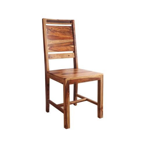WOLFMÖBEL Holzstuhl Khan mit Sprossen quer Holzstuhl mit Sprossen