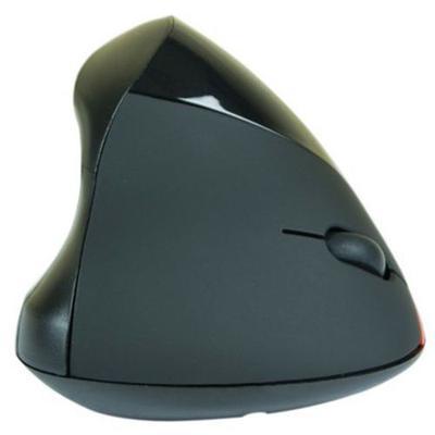 souris verticale sans fil noire pour droitier
