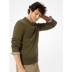 Michael Kors Cotton and Linen Pullover Green XS