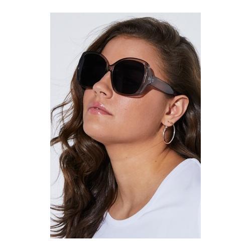 Große Größen Butterfly-Sonnenbrille - Große Größen Damen, grau) | Ulla Popken Sonstiges | Kunststoff, Butterfly-Sonnenbrille