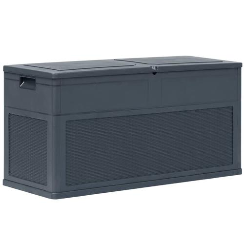 vidaXL Garten-Aufbewahrungsbox 320 L Anthrazit