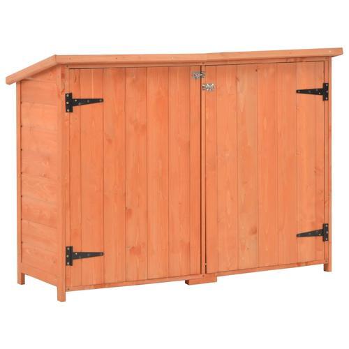 vidaXL Garten-Geräteschuppen 120x50x91 cm Holz