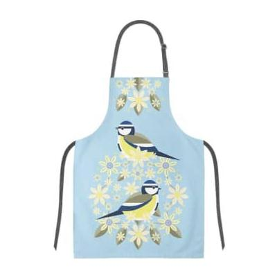 My Gifts Trade - Blue Tit I Like Birds B Looms Apron - Blue/Yellow