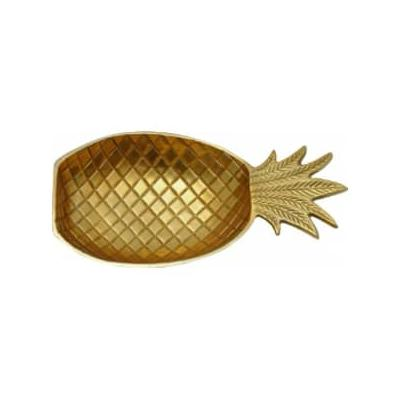 Accessories for the Home - Small Gold Pineapple Dish - Gold