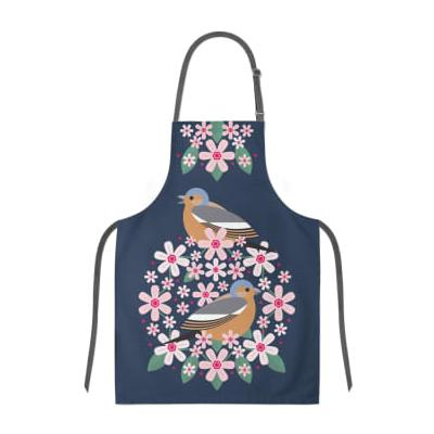 My Gifts Trade - My Gifts Trade - I Like Birds Blooms Apron Chaffinch - Blue/Purple