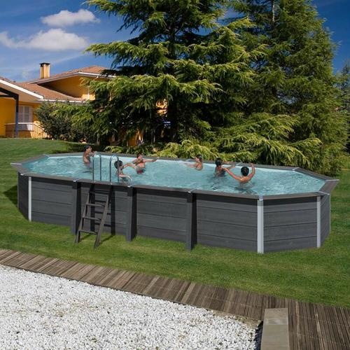 Composite Ovalpool-SET 8,04 x 3,86 x 1,24 m