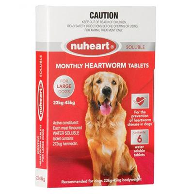 Nuheart - Generic Heartgard For Large Dogs 51-100lbs (Red) 6 Tablet