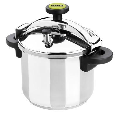 Matfer 013206 12 2/3 qt Pressure Cooker w/ Plastic Handles, Stainless Steel