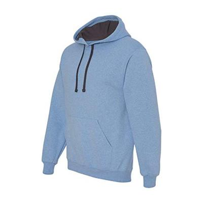 Fruit of the Loom Mens 7.2 oz. Sofspun Hooded Sweatshirt (SF76R) -Carolina H -L