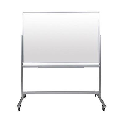 """Luxor Double-Sided Mobile Magnetic Glass Marker Board (60""""W x 40""""H)"""