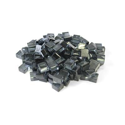 """Grey 1/2"""" Reflective Fireglass Cubes - 10 lb bag in N/A - TK Classics Fp-Cube-Gry12"""