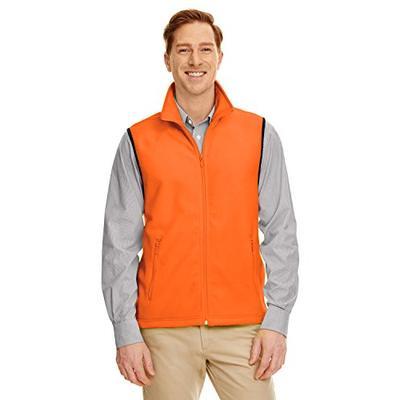 Harriton M985 Adult 8 Oz. Fleece Vest Safety Orange 3Xl -