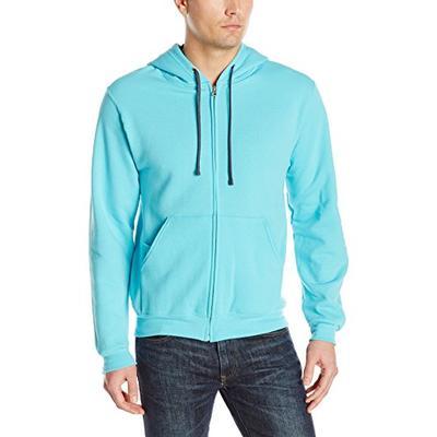 Fruit of the Loom Men's Full-Zip Hooded Sweatshirt, Scuba Blue Medium
