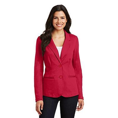 Port Authority Women's Knit Blazer LM2000 Rich Red 2XL