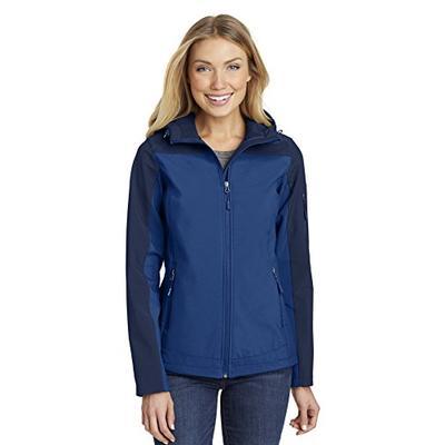Port Authority Women's Hooded Core Soft Shell Jacket L335 Night Sky Blue/Dress Blue Navy XL