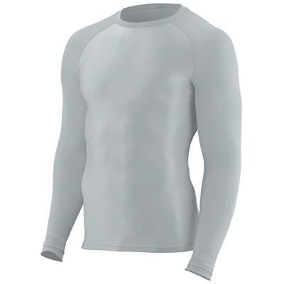 Augusta Sportswear Boys' Hyperform Compression Long Sleeve Shirt L Silver