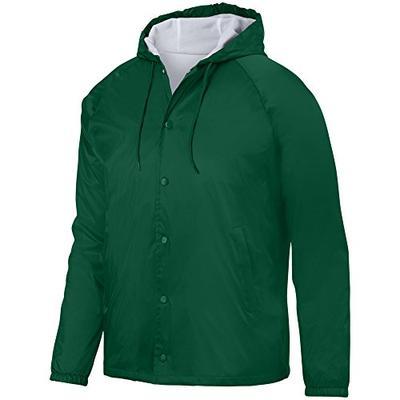 Augusta Sportswear Men's Hooded Coach's Jacket XL Dark Green
