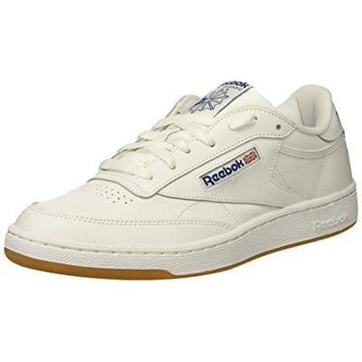 Reebok Men's Club C 85 Fashion Sneaker, White/Royal-Gum, 11.5 M US