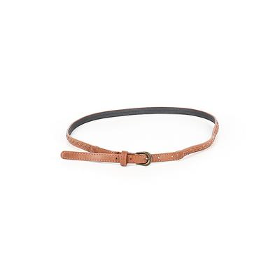 Belt: Brown Solid Accessories - Size Medium
