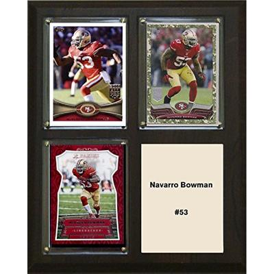 "C&I Collectables NFL San Francisco 49ers Navarro Bowman Three Card Plaque, Brown, 8"" x 10"""