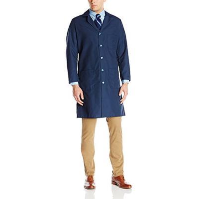 Red Kap Men's Exterior Pocket Original Lab Coat, Navy 42