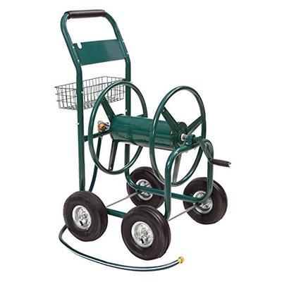 Liberty Garden 872-2 Residential 4-Wheel Steel Garden Hose Reel Cart, Holds 350-Feet of 5/8-Inch Hos